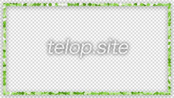 マーブルストーンの飾りフレーム(ライムグリーン)サンプル